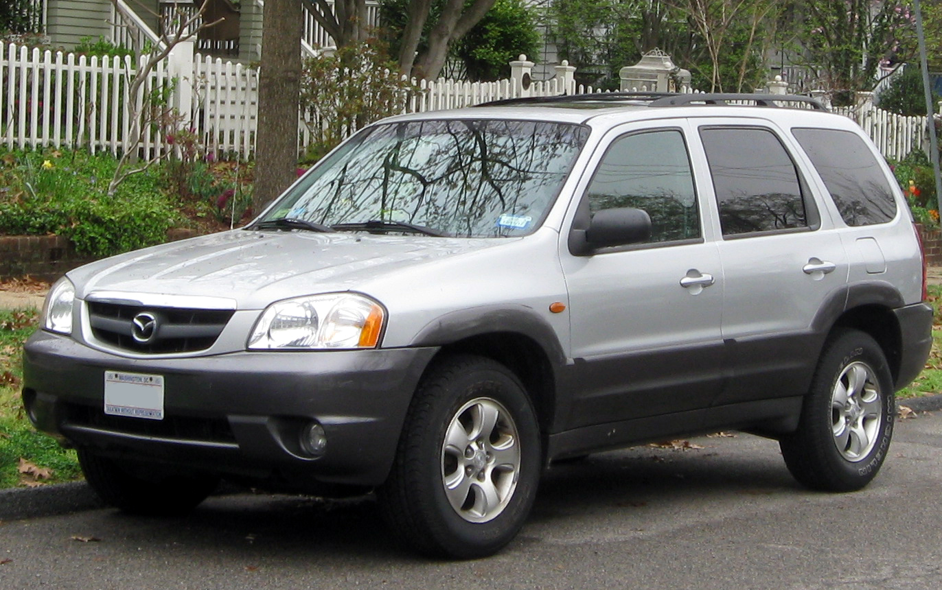 Black Mazda Tribute 2003