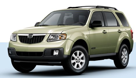Green Mazda Tribute 2007