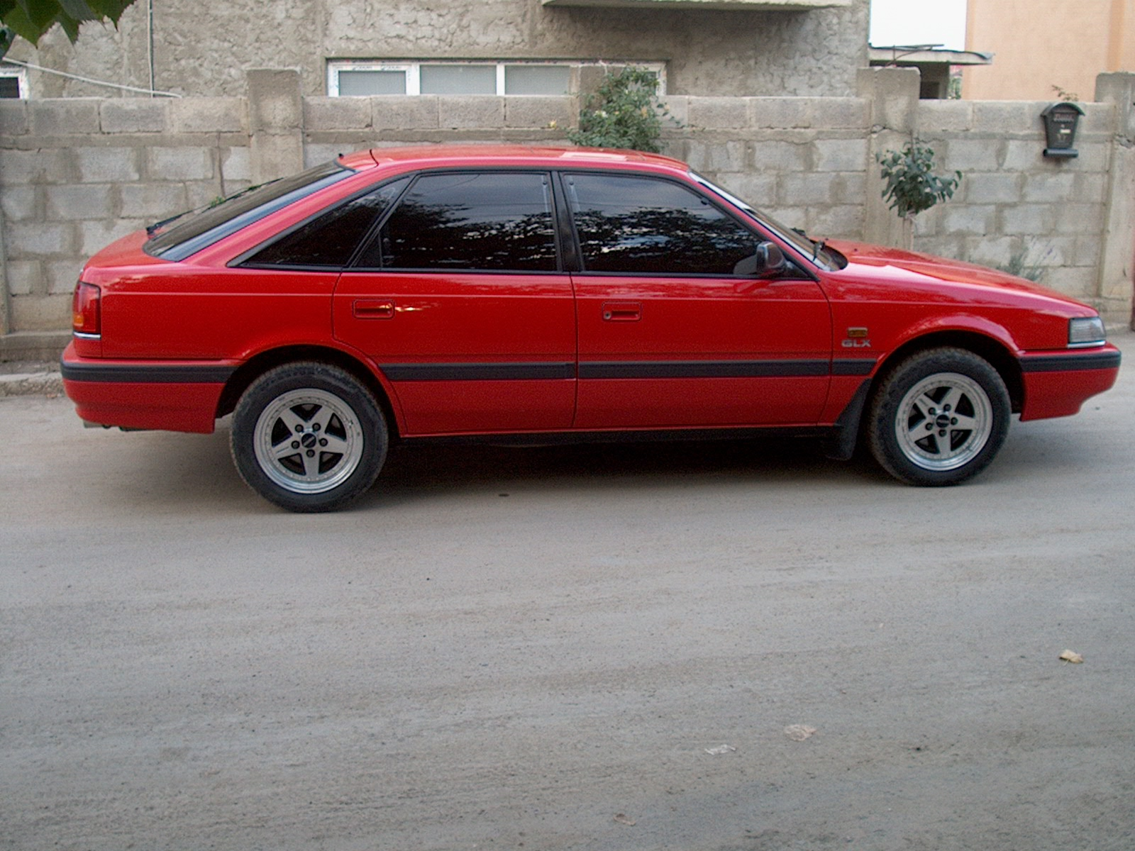 Red Mazda Capella 1979