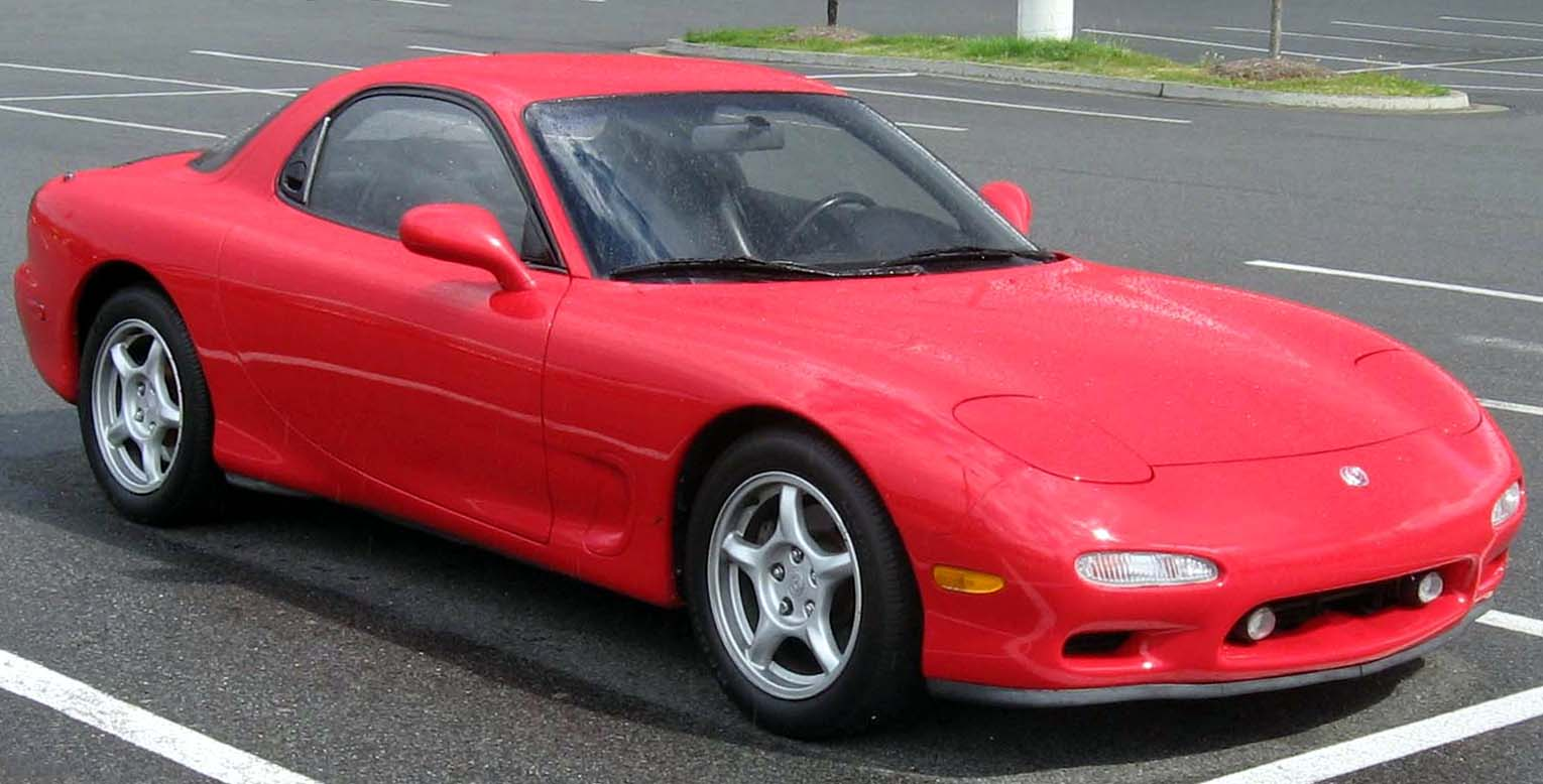Red Mazda Capella 1981