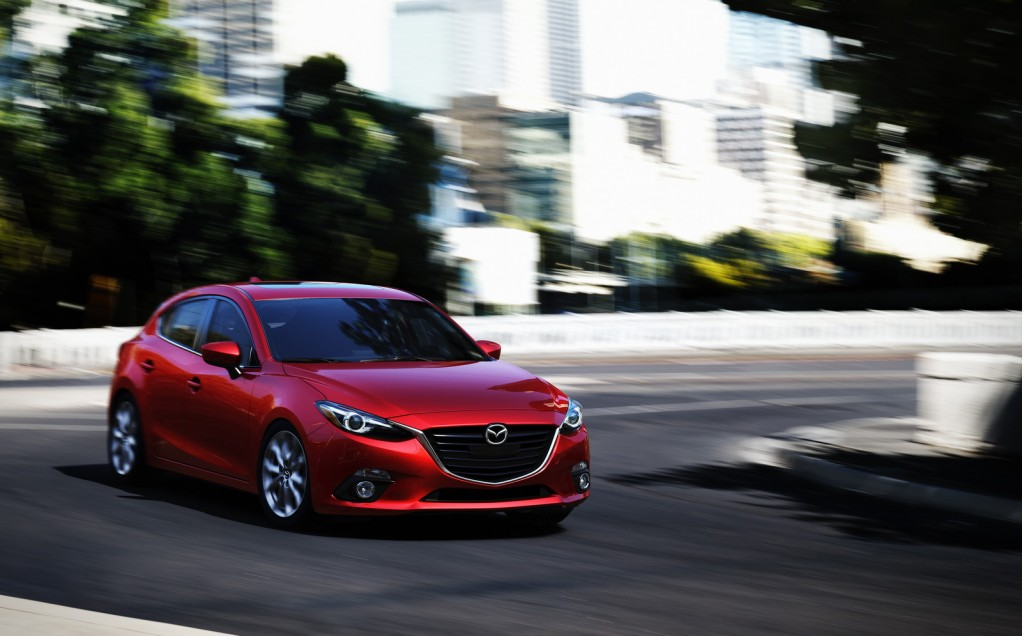 Red Mazda Coupe 2014