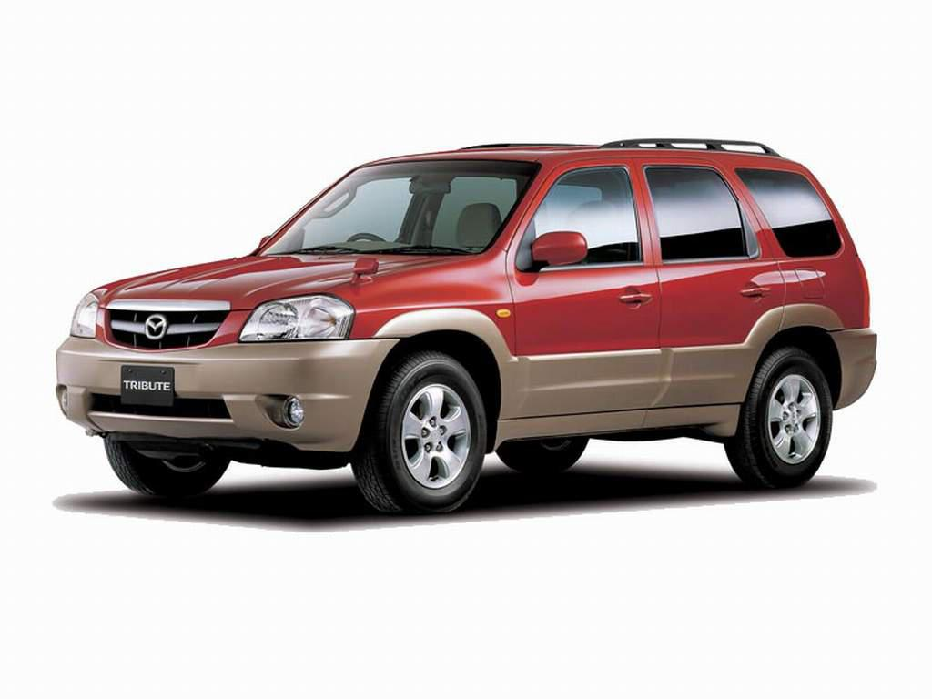 Red Mazda Tribute 2004