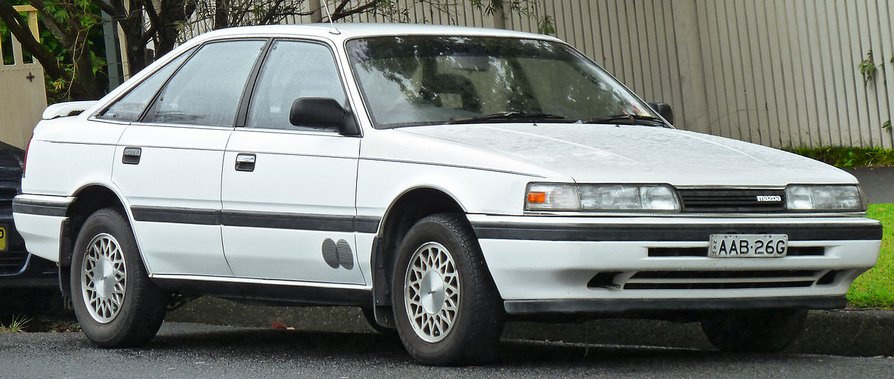 White Mazda Capella 1979
