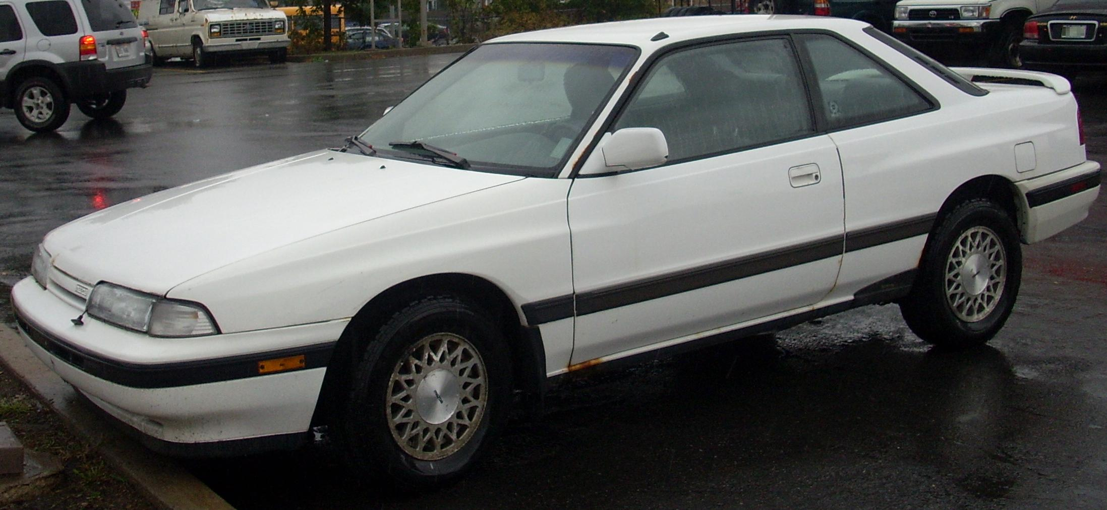 White Mazda Capella 1988