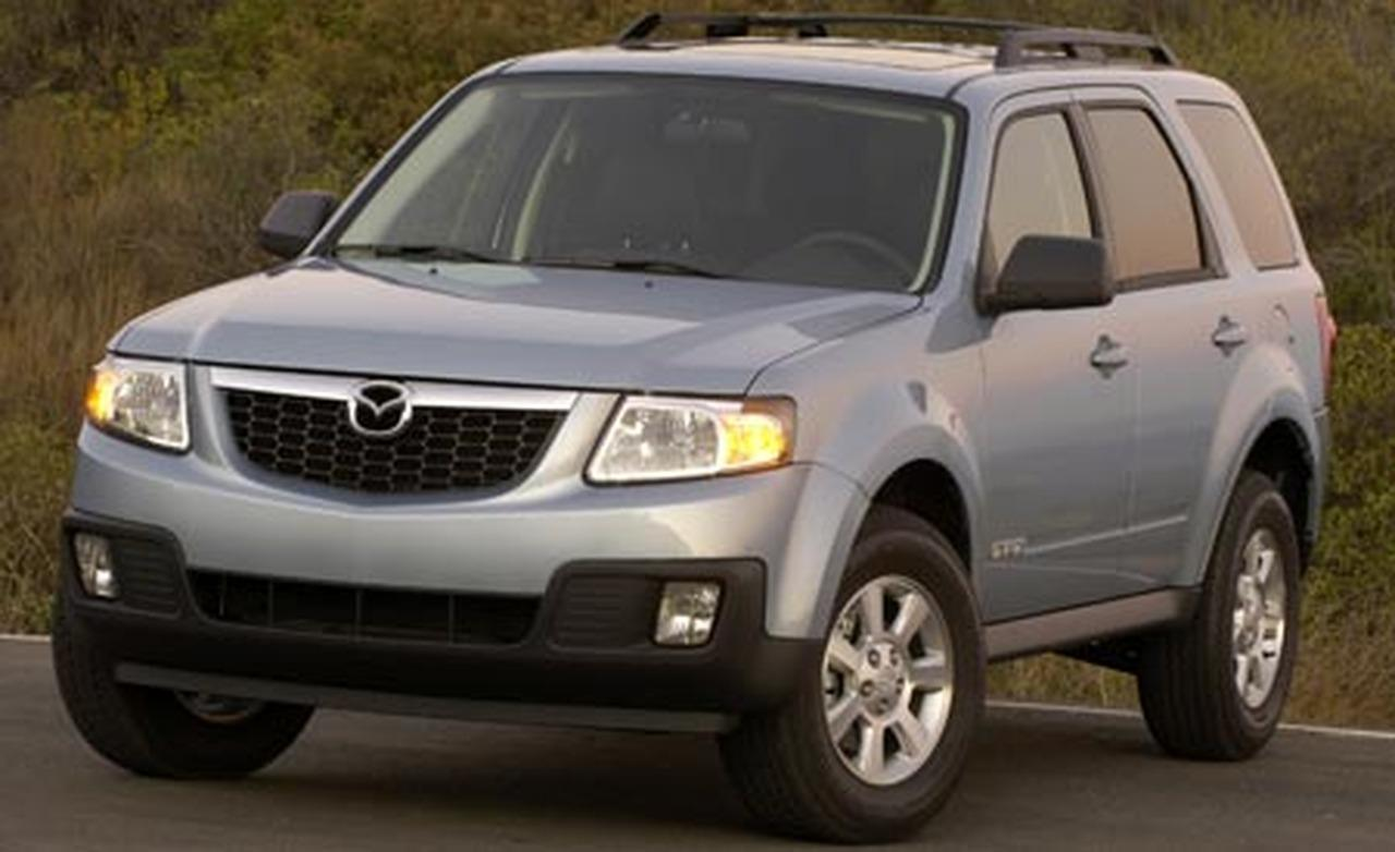 White Mazda Tribute 2008