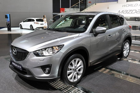 Yellow Mazda CX-5 2013