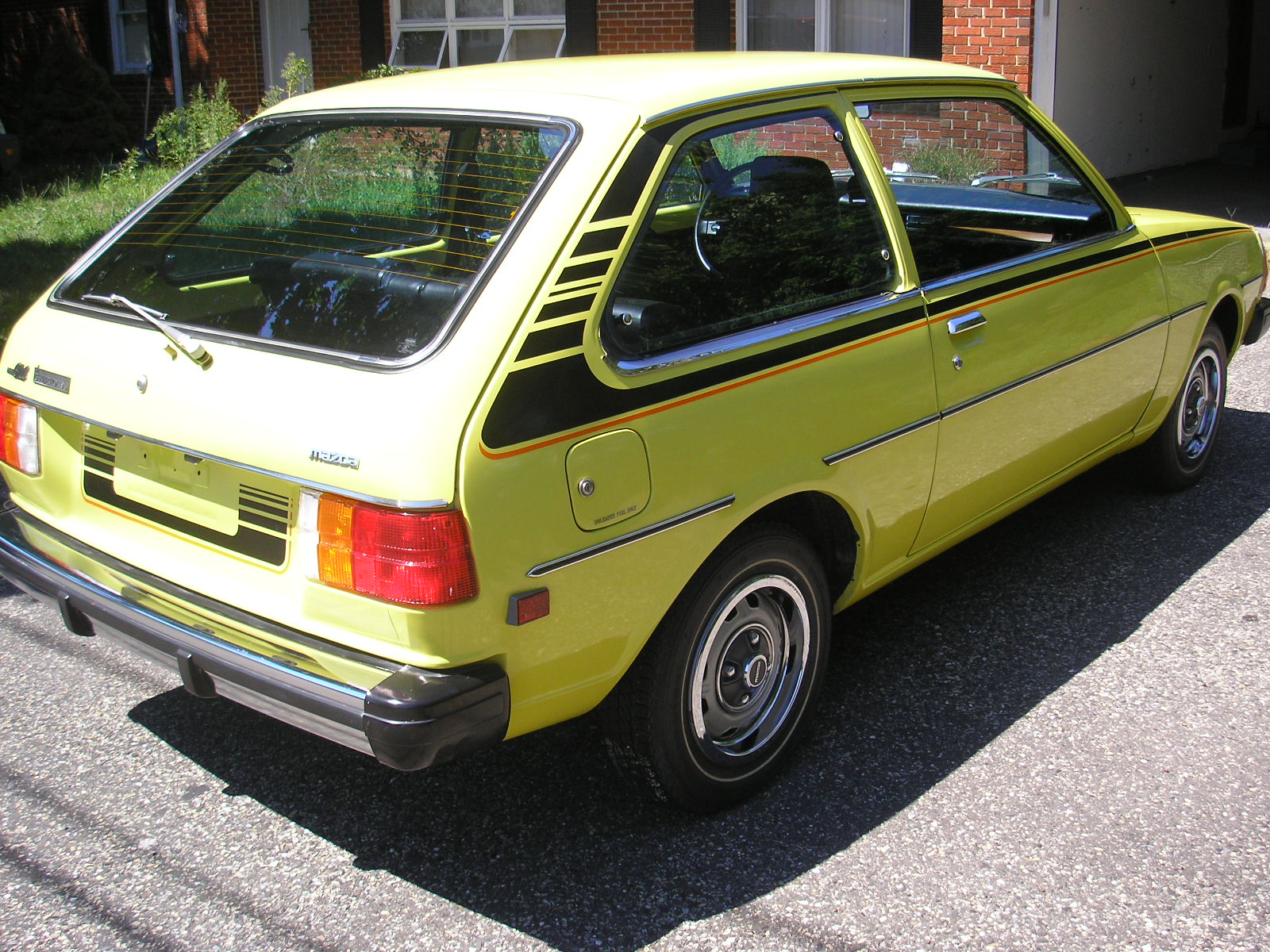 Yellow Mazda GLC 1979