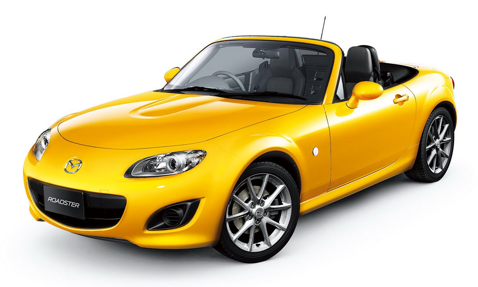Yellow Mazda MX5 1992