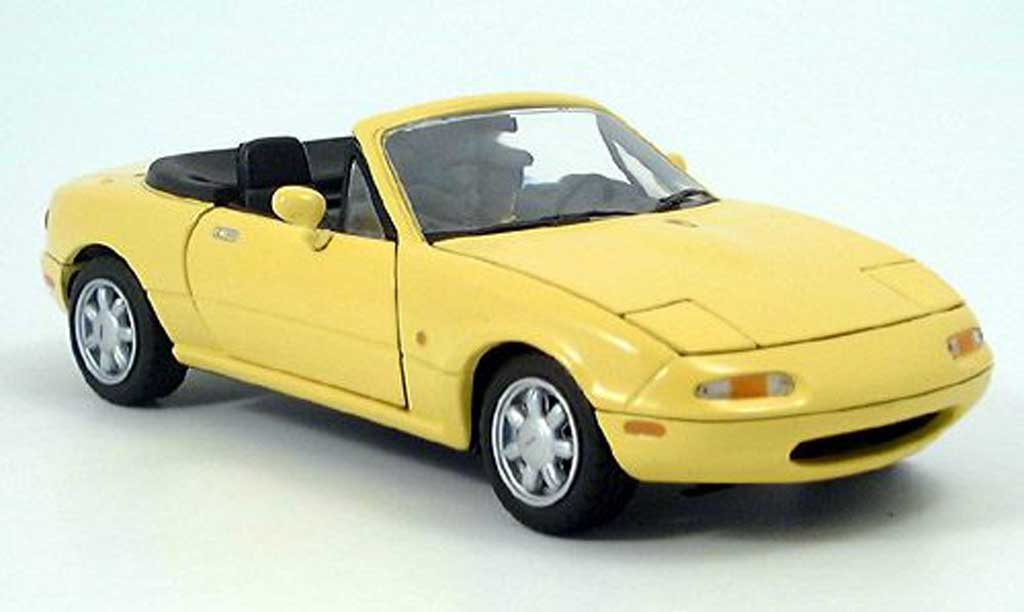 Yellow Mazda MX5 1993