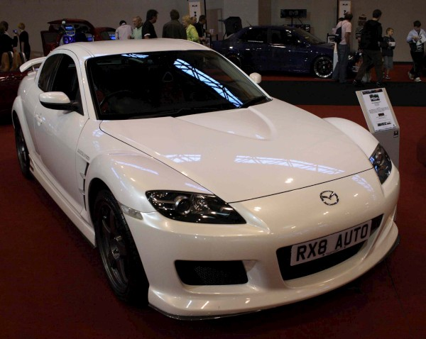 Yellow Mazda RX-8 2005