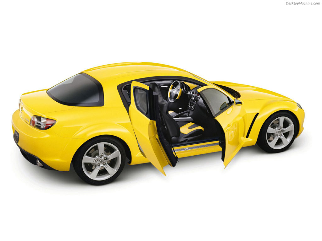 Yellow Mazda RX-8 2006
