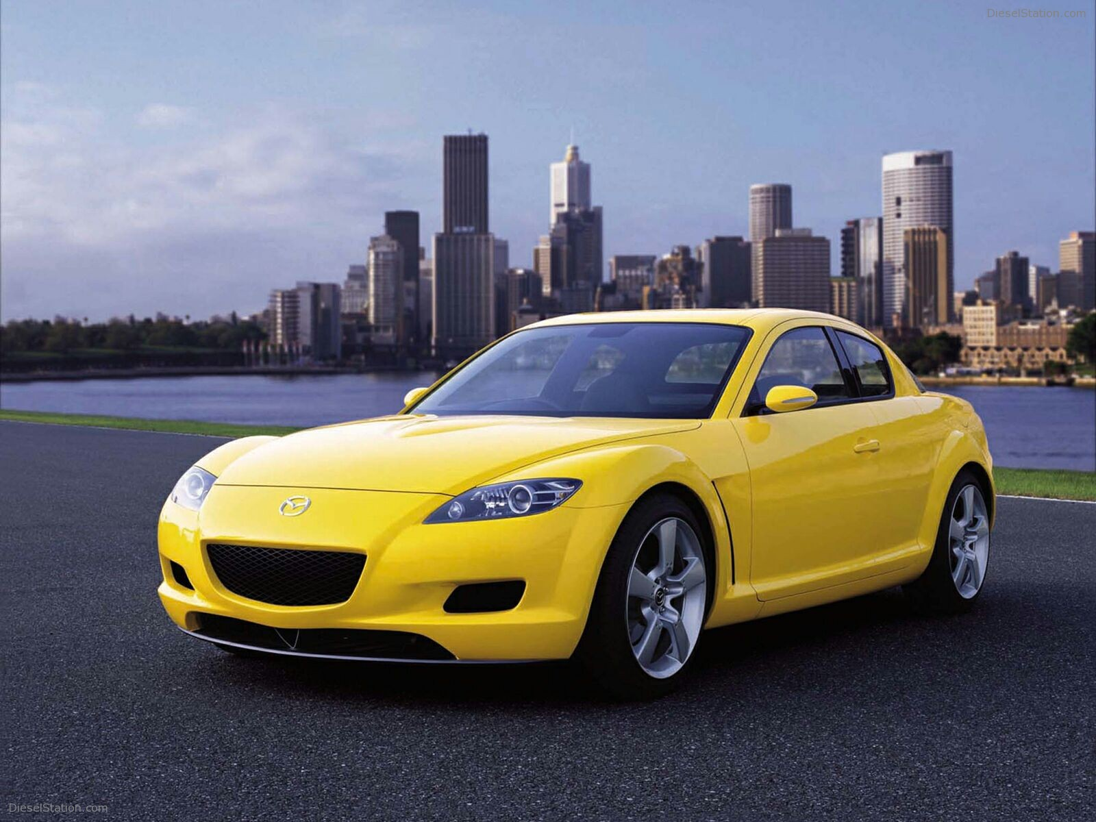 Yellow Mazda RX-8 2012