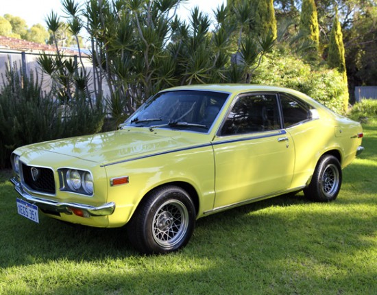Yellow Mazda RX3 1973