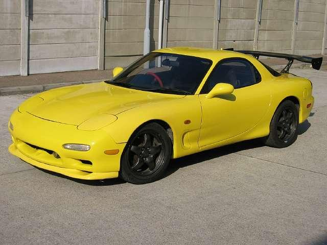 Yellow Mazda RX7 1981
