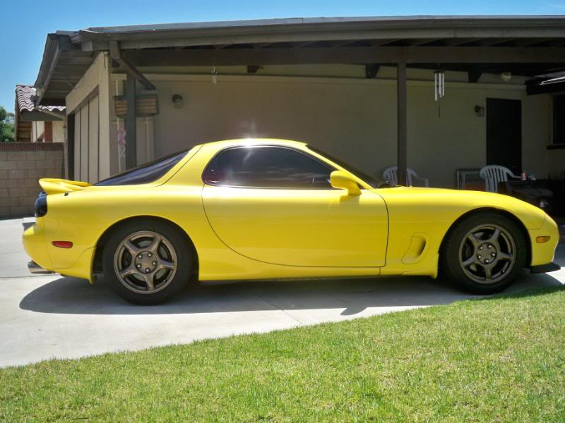 Yellow Mazda RX7 2008