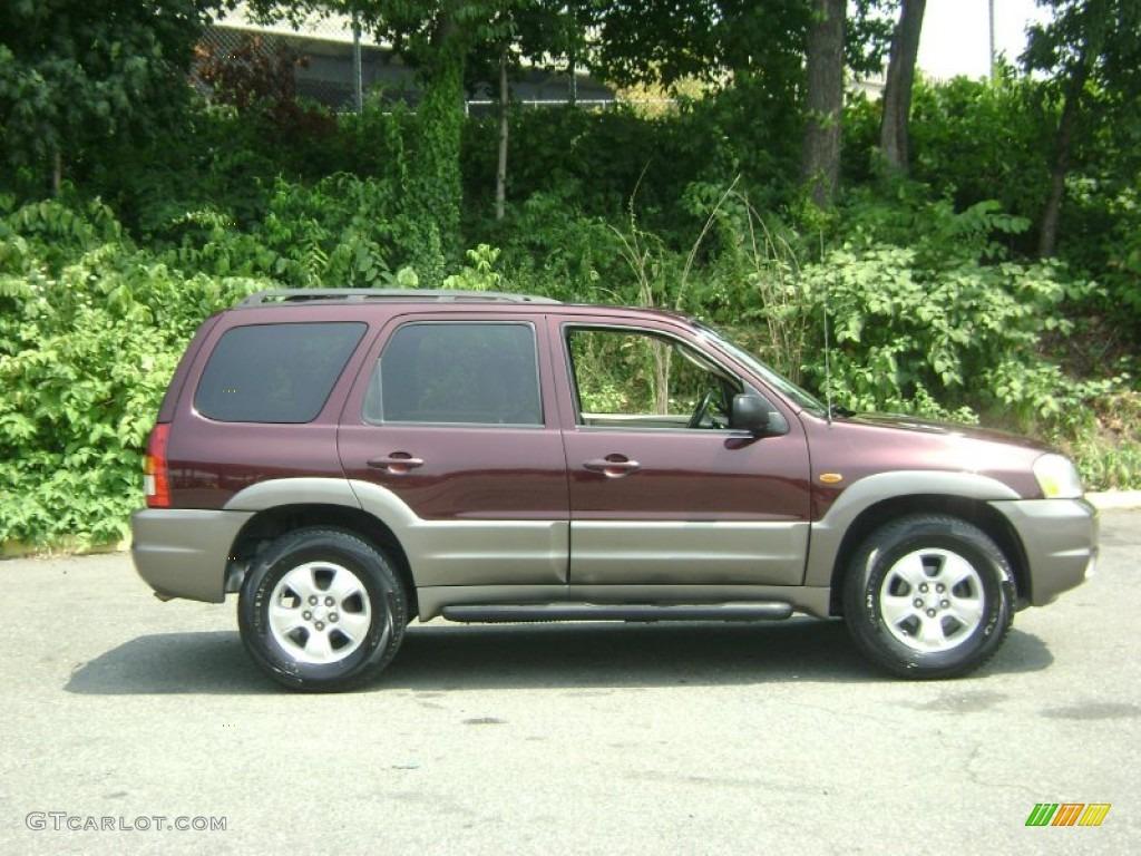 White Mazda Tribute 2002